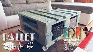 room vintage chest coffee table: vintage style pallet coffee table with diy video