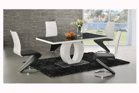 modern dining room sets kitchen amazing unique modern dining room chairs with s shape metal black white modern kitchen tables