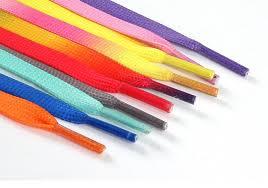 <b>1Pair</b> / <b>Colorful</b> Shoelaces Flat Shoe laces Fashion Canvas Leisure ...