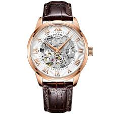 men s watches h samuel rotary men s silver dial brown leather strap watch product number 4607007