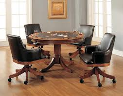 casual dining chairs with casters: dining chair designwooden dining room chairs with wheels brown black classic sensational casual home