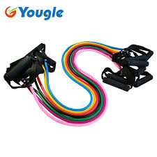 YOUGLE <b>11pcs</b>/<b>set</b> Pull Rope Fitness Exercises <b>Resistance Bands</b> ...