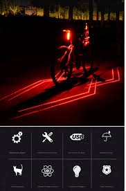 Bicycle Spiderman Laser Rear Light Night <b>Cycling Safety Warning</b> ...