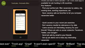 trovit jobs work offers iphone ipad review trovit jobs work offers iphone ipad review