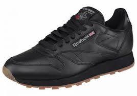 "Кеды ""Classic Leather"" <b>Reebok</b> - черный/бежевый цвет. Размеры ..."