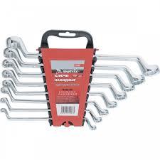 <b>Набор ключей накидных</b>, 6-22 мм, CR-V, 8 шт, полированный ...