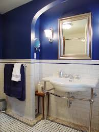 popular cool bathroom color: dramatic addition rms sombreuil royal blue bathroom sxjpgrendhgtvcom