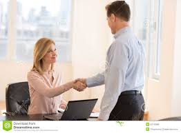 businessw greeting candidate during interview stock photo businessw greeting candidate during interview