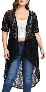 M-3XL <b>Ladies Summer</b> Sun Protection Coat Pretty <b>Sheer</b> Lace Short ...