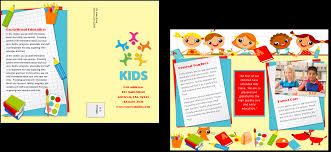 brochure child care brochure template best of template child care brochure template medium size