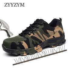 <b>ZYYZYM Men</b> Work Safety <b>Boots</b> Plus Size Outdoor Steel Toe Cap ...