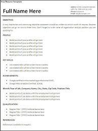 job resume sample free resume templates job specific resume templates