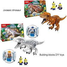 <b>Jurassic</b> dinosaur children DIY <b>assembling building blocks</b> | Shopee ...