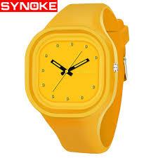 <b>Synoke</b> Boys <b>Student Colorful</b> Waterproof Sports <b>Watch</b> Men Brand ...