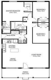 Floor Plan for a Small House   sf   Bedrooms and Baths    Plan No  House Plans by WestHomePlanners com
