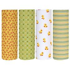 Cuddles & Cribs Cotton Flannel <b>Receiving Blankets</b> - Pack of 4 ...