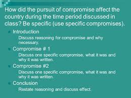 essay questions sectionalism american history ii   ppt download how did the pursuit of compromise affect the country during the time period discussed in class