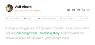 free one page web resume template   freebies gallery