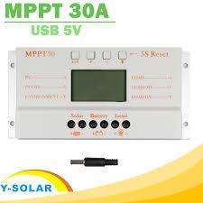 <b>Solar</b> Panel <b>Controller MPPT 30A</b> LCD Display 12V 24V <b>Solar</b> ...