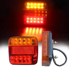 <b>2X 12V 6</b>-LED Truck Boat Trailer Side Marker Taillight Indicators ...
