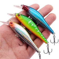 <b>1Pcs</b> 3D Eyes Swimfish <b>Wobblers</b> 7.5cm 7.3g <b>Minnow</b> Fishing Lure ...