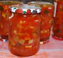 Салаты с кабачками с помидорами на зиму