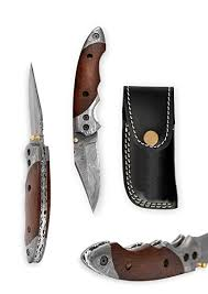 swayboo damascus steel camping knives survival hunting copper handle handmade forged knife