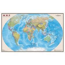 "<b>Карта</b> настенная ""<b>Мир</b>. <b>Политическая карта</b>"", М-1:20 млн ..."