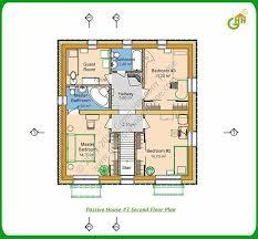 Green Passive Solar House Plans   Green Passive Solar House   Second Floor Plan  Passive Solar Home Plans