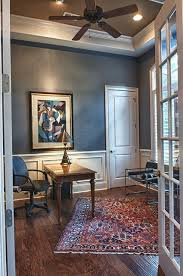 paint color williamsburg or slate blue wood trim walls blue office walls