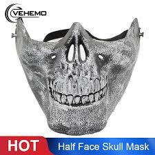 <b>Skeleton</b> Half Face Mask <b>Costume Halloween Party</b> Airsoft <b>Skull</b> ...