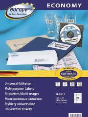 <b>Самоклеящиеся этикетки</b> Европа-100, <b>универсальные</b>, 70x37 мм ...