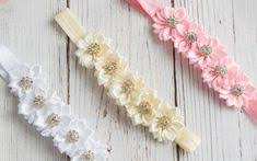 Vintage Blooms Trio <b>Headband</b> Toffee - <b>11 Colors</b> Available | Oh ...