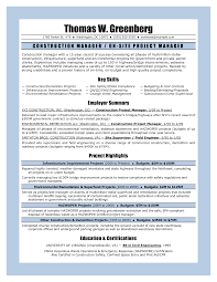 project management resume example example of project manager    project management resume templates facilities manager