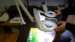 <b>Лупа настольная</b> малая 3Х +доп.12Х с подсветкой 60 LED, белая ...