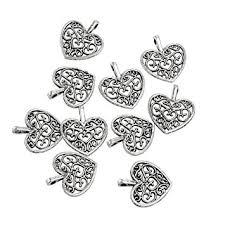 Yansanido Pack of 100 Alloy <b>Antique</b> Lovely Fashion Mini <b>love</b> heart