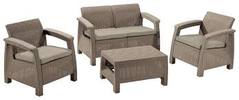 <b>Комплект мебели</b> Allibert Corfu set (<b>диван</b>, 2 кресла, стол ...