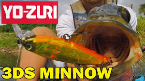 <b>Воблер Yo Zuri</b> 3DS <b>Minnow</b> - YouTube