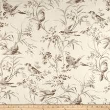 decor linen fabric multiuse: french general bird toile blend bisque