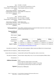 european resume for hospitality and tourism administration job  europass cv english exxample for global europa