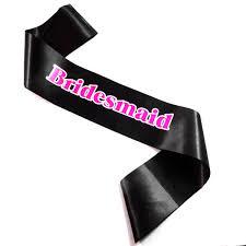 <b>12pc</b> Hen party 2018 New Design <b>black</b> ribbon <b>hot pink and</b> white ...