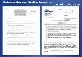 understanding your roofing contract brady roofing what to look for in a roofing contract