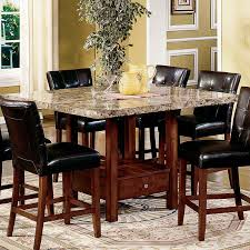 marble dining room table darling daisy:  dining room medium size steve silver montibello marble top counter height storage dining table at hayneedle