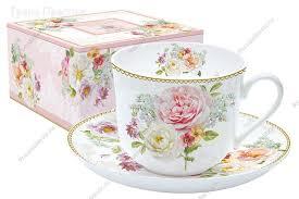 Чайная <b>чашка</b> с блюдцем фарфоровая (Шапо чайное или пара ...
