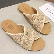 <b>2019 Weave Slippers Women</b> Summer Shoes Woman Casual ...