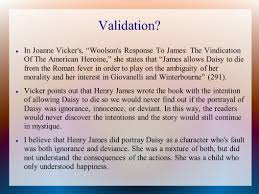 conference presentation daisy miller a story by henry james 9 validation