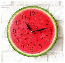 unique wall clocks the watermelon wall clock home decor for children baby kid boy girl blank wall clock frei