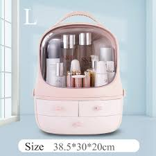 transparent cosmetic storage box makeup organizer double brush lipstick jewelry household drawer