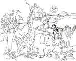 Картинка раскраска африка