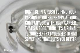 30sec tip don t be in a rush to your passion